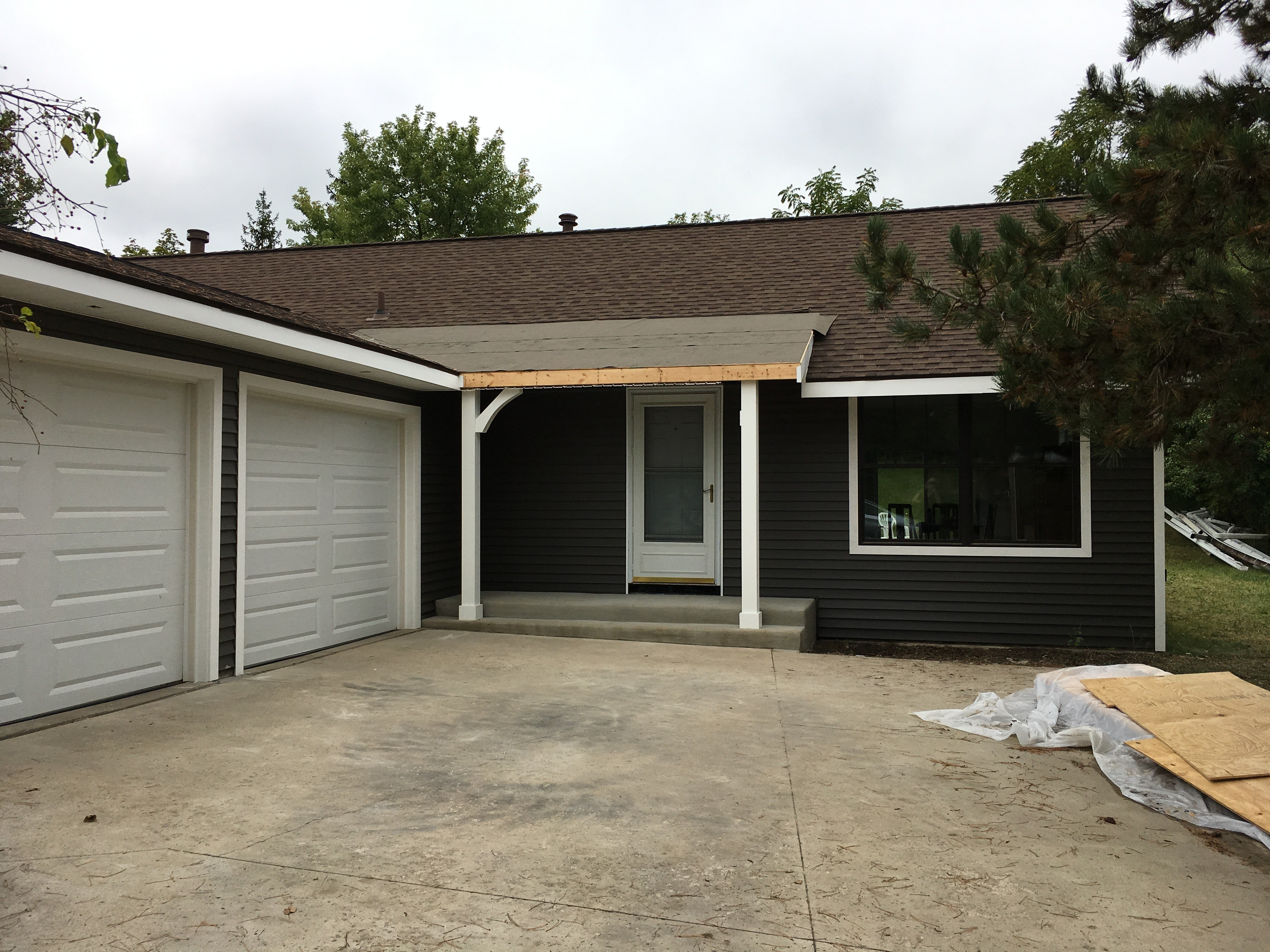 front siding mostly done