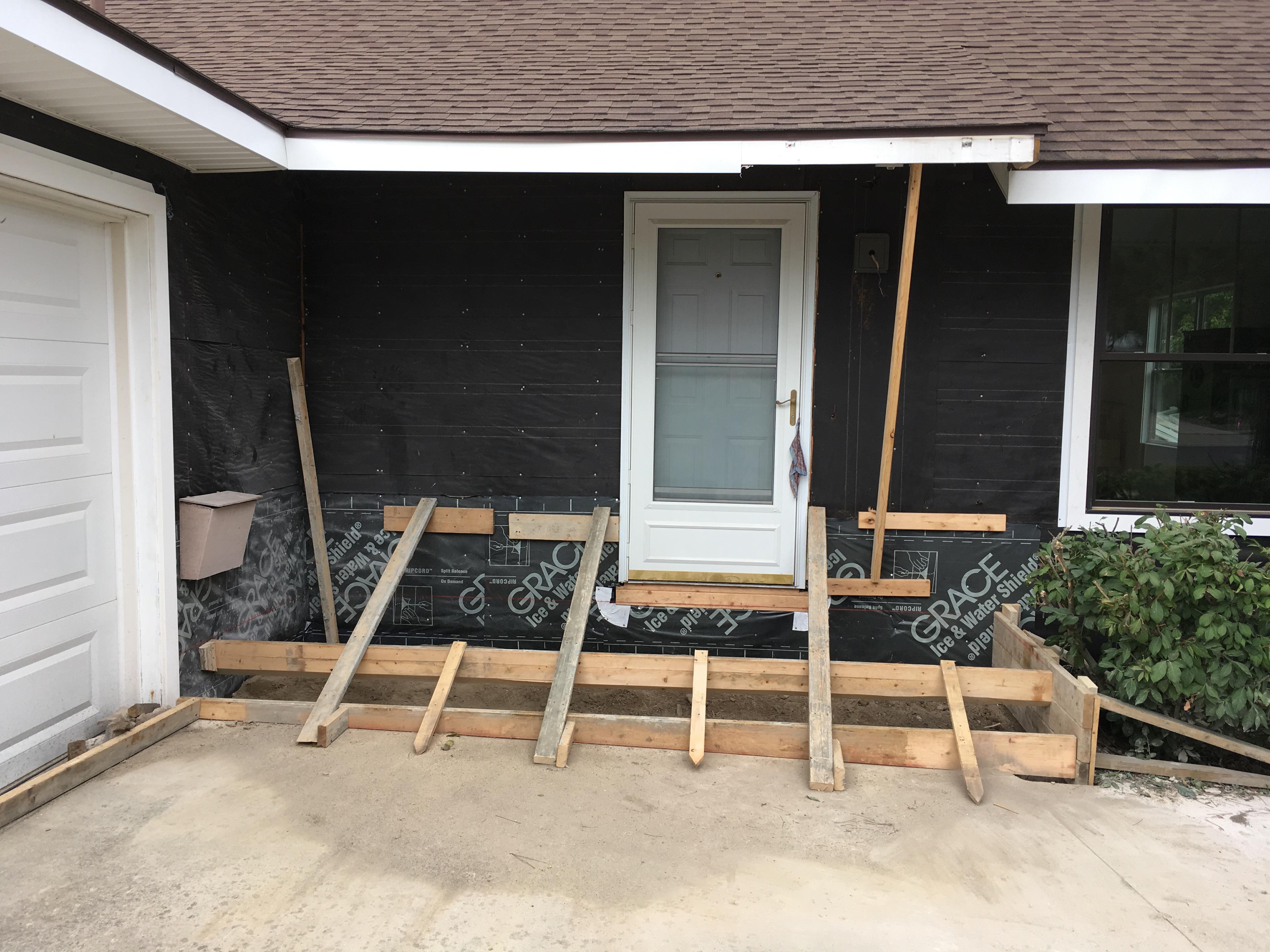 ready to pour a porch